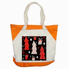 Red Playful Xmas Accent Tote Bag by Valentinaart