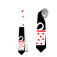 Red Playful Xmas Neckties (one Side)  by Valentinaart