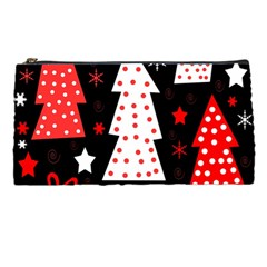 Red Playful Xmas Pencil Cases by Valentinaart