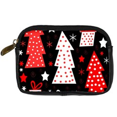 Red Playful Xmas Digital Camera Cases by Valentinaart