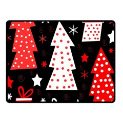 Red Playful Xmas Fleece Blanket (small)