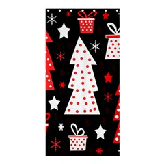 Red Playful Xmas Shower Curtain 36  X 72  (stall)  by Valentinaart