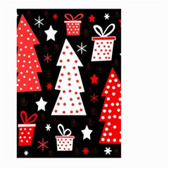 Red Playful Xmas Large Garden Flag (two Sides) by Valentinaart