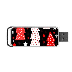 Red Playful Xmas Portable Usb Flash (two Sides) by Valentinaart