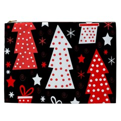 Red Playful Xmas Cosmetic Bag (xxl)  by Valentinaart