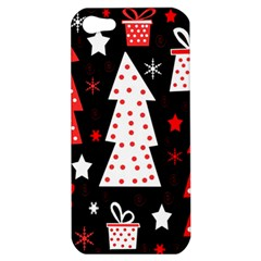 Red Playful Xmas Apple Iphone 5 Hardshell Case by Valentinaart
