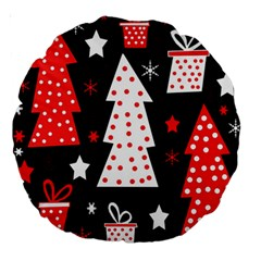 Red Playful Xmas Large 18  Premium Round Cushions by Valentinaart