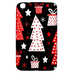 Red Playful Xmas Samsung Galaxy Tab 3 (8 ) T3100 Hardshell Case  by Valentinaart