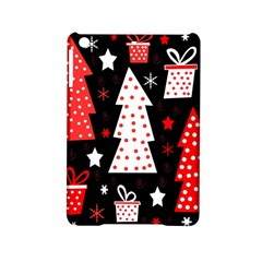 Red Playful Xmas Ipad Mini 2 Hardshell Cases by Valentinaart
