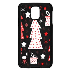Red Playful Xmas Samsung Galaxy S5 Case (black) by Valentinaart