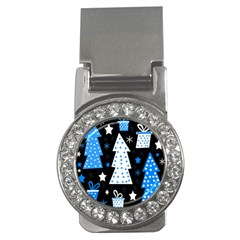Blue Playful Xmas Money Clips (cz)  by Valentinaart
