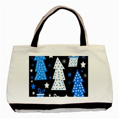 Blue Playful Xmas Basic Tote Bag by Valentinaart
