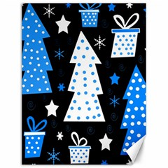 Blue Playful Xmas Canvas 12  X 16   by Valentinaart