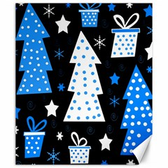 Blue Playful Xmas Canvas 20  X 24   by Valentinaart