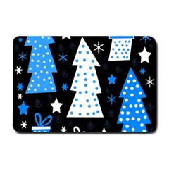 Blue Playful Xmas Small Doormat