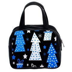 Blue Playful Xmas Classic Handbags (2 Sides) by Valentinaart