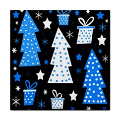 Blue Playful Xmas Face Towel by Valentinaart