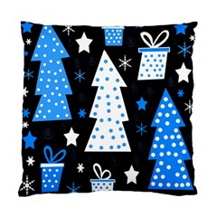 Blue Playful Xmas Standard Cushion Case (one Side) by Valentinaart