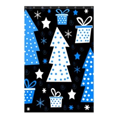 Blue Playful Xmas Shower Curtain 48  X 72  (small)