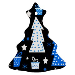 Blue Playful Xmas Ornament (christmas Tree) by Valentinaart