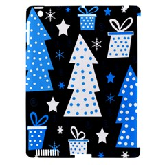 Blue Playful Xmas Apple Ipad 3/4 Hardshell Case (compatible With Smart Cover) by Valentinaart