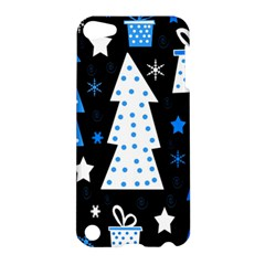 Blue Playful Xmas Apple Ipod Touch 5 Hardshell Case by Valentinaart