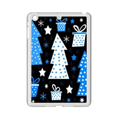 Blue Playful Xmas Ipad Mini 2 Enamel Coated Cases by Valentinaart