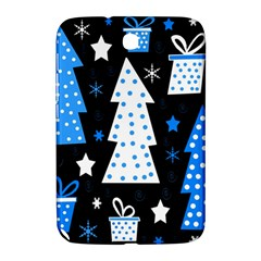 Blue Playful Xmas Samsung Galaxy Note 8 0 N5100 Hardshell Case  by Valentinaart