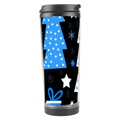 Blue Playful Xmas Travel Tumbler by Valentinaart