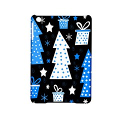 Blue Playful Xmas Ipad Mini 2 Hardshell Cases by Valentinaart