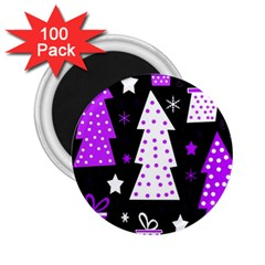 Purple Playful Xmas 2 25  Magnets (100 Pack)  by Valentinaart