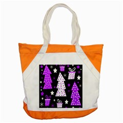 Purple Playful Xmas Accent Tote Bag