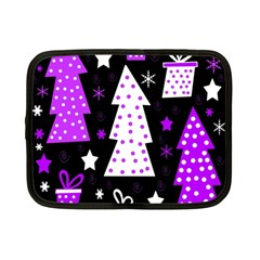 Purple Playful Xmas Netbook Case (small)