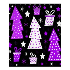 Purple Playful Xmas Shower Curtain 60  X 72  (medium)  by Valentinaart