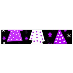 Purple Playful Xmas Flano Scarf (small) by Valentinaart