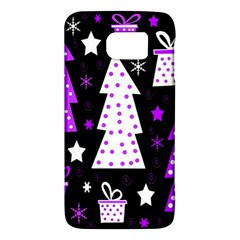 Purple Playful Xmas Galaxy S6 by Valentinaart