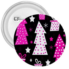 Pink Playful Xmas 3  Buttons by Valentinaart
