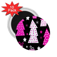 Pink Playful Xmas 2 25  Magnets (10 Pack)  by Valentinaart