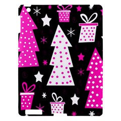 Pink Playful Xmas Apple Ipad 3/4 Hardshell Case by Valentinaart