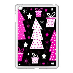 Pink Playful Xmas Apple Ipad Mini Case (white) by Valentinaart