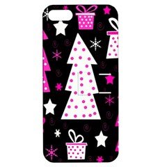 Pink Playful Xmas Apple Iphone 5 Hardshell Case With Stand by Valentinaart