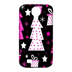 Pink Playful Xmas Samsung Galaxy S4 Classic Hardshell Case (pc+silicone) by Valentinaart