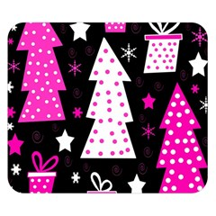 Pink Playful Xmas Double Sided Flano Blanket (small)  by Valentinaart