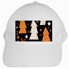 Orange Playful Xmas White Cap by Valentinaart