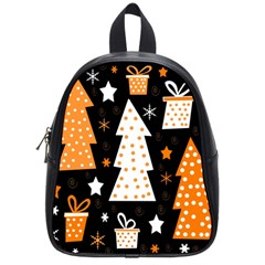 Orange Playful Xmas School Bags (small)  by Valentinaart