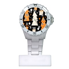 Orange Playful Xmas Plastic Nurses Watch