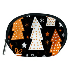 Orange Playful Xmas Accessory Pouches (medium)
