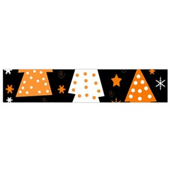 Orange Playful Xmas Flano Scarf (small) by Valentinaart