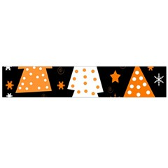 Orange Playful Xmas Flano Scarf (large) by Valentinaart