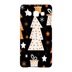 Orange Playful Xmas Samsung Galaxy A5 Hardshell Case